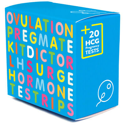 PREGMATE 100 Ovulation LH And 20 Pregnancy HCG Test Strips Combo Predictor Kit