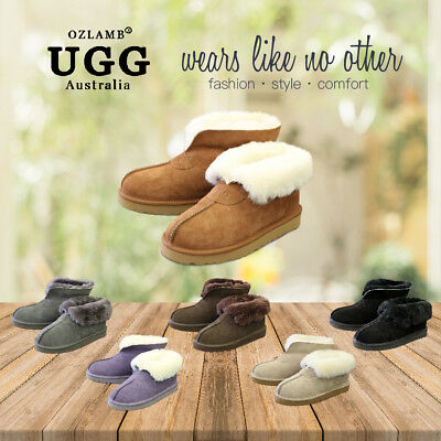 New Premium Wool UGG Women/Men/Unisex Classic Ankle Short/Medium Slipper/Scuff