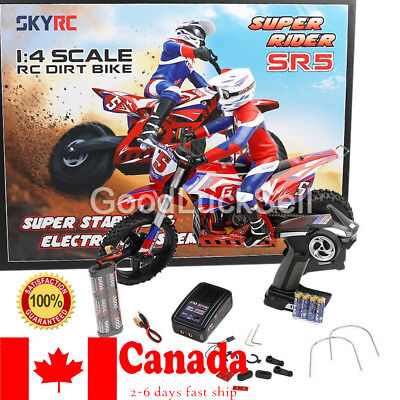 SKYRC Super Rider SR5 1:4 Dirt Bike EP RC Motorcycle Brushless RTR #SK-700001 CA
