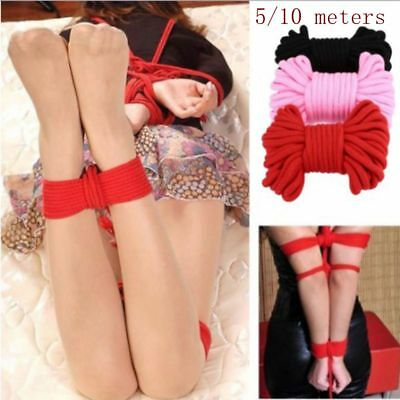 5/10m Adult Sex Play Strap Restraint Fetish Game Toys Soft Cotton Bondage Rope