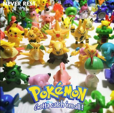 144pcs Pokemon Monster Mini PVC Action Figures Anime Cute Toys Kids Gift