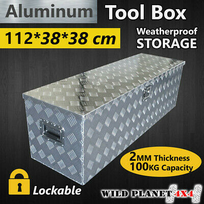 Tool Box Tool Storage Aluminium w Lock Bar UTE Trailer Truck Heavy Duty  Vehicle