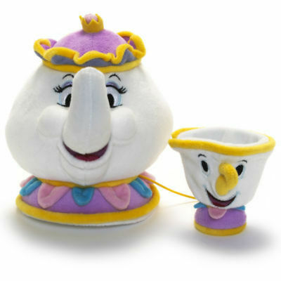 Disney Plush Dolls Beauty and the Beast Mrs Potts And Chip Soft Toys Teddy