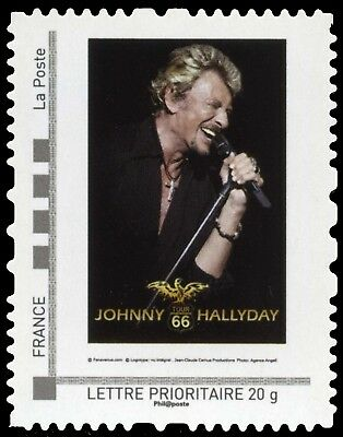 "Timbre France Autoadhésif Neuf** - Johnny Hallyday - Collector ""Tour 66"" - 2009"