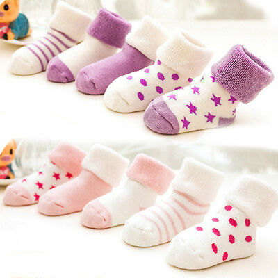 5 Pairs Candy Color Socks Newborn Baby Toddler Infant Cotton Blend Summer Trendy