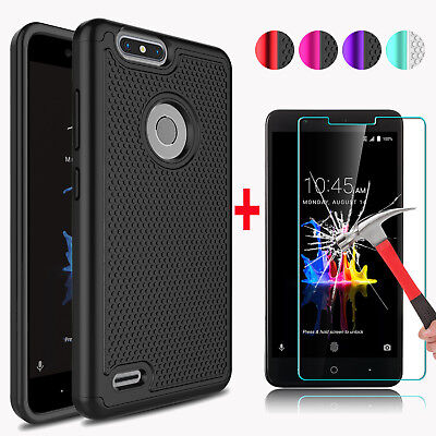 For ZTE Blade Z Max/Blade Zmax Pro 2 Phone Case + Glass Screen Protector Film