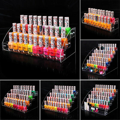 7 Layers Nail Polish Acrylic Clear Makeup Display Stand Rack Organizer Holder S2