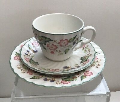 BHS VICTORIAN ROSE TRIO - Cup, Saucer & Side Plate