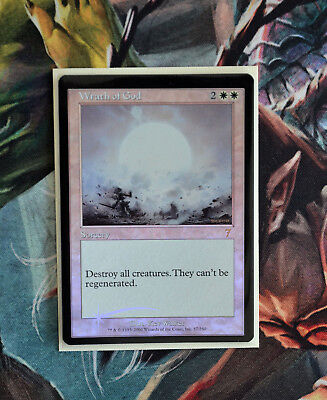 Magic the Gathering Wrath of God Zorn Gottes Foil 7th Mint Misscut Sammlerstück