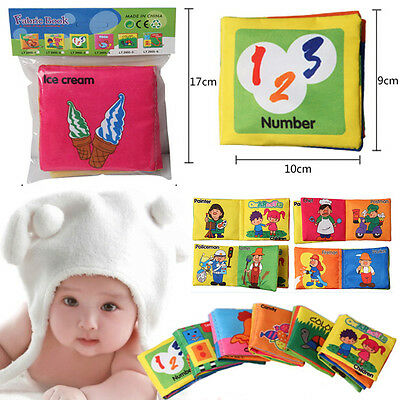 1 X Intelligence development Cloth Cognize Book Educational Toy for Kid Baby TK