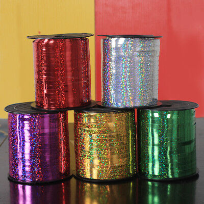 5mm Curling Ribbon Holographic Silver 30m-100m Perfect for Balloons & Gift Wrap
