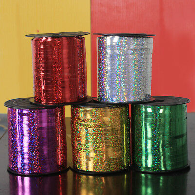 5mm Curling Ribbon Holographic Silver 30m-100m Perfect for Ribons Balloons
