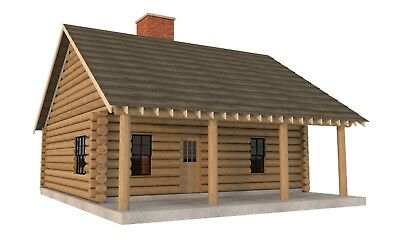 Build your own 840 sqft 2 bedroom Log Cabin (DIY Plans) Fun to build!!