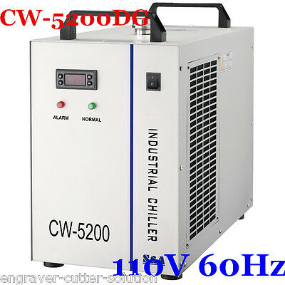 S&A CW-5200DG Water Chiller for 130/150W CO2 Laser Tube Cooling 110V 60Hz