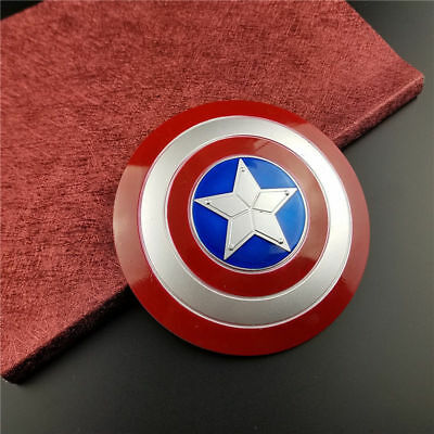 The Avengers Captain America Metal Alloy Shield 10cm MINI Revolving Shield Prop