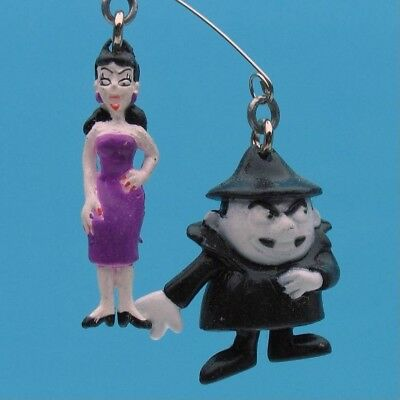 BORIS & NATASHA 2 PIECE SET Dangling DANGLER FIGURE SUCTION CUP MOUNT 9660