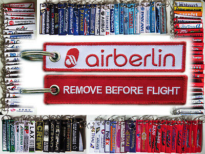 Keyring AIR BERLIN Remove Before Flight baggage tag keychain for Pilot