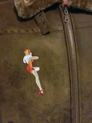 PATCH MEMPHIS BELLE WW2 Pin-Up Girl Boeing B-17 Bomber Pilot Jacket sew/iron-on