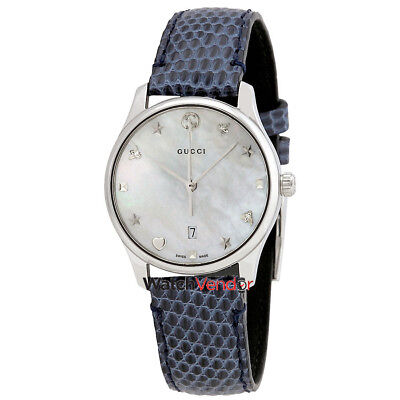 9807992525e GUCCI G-TIMELESS MOTHER of Pearl Dial Men s Leather Watch YA1264044 ...
