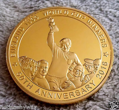 3D Hologram England 1966 World Cup Winners Gold Coin Moving Image 2018 Russia