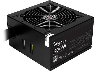 Rosewill RD500S, 80 PLUS Certified 500 W Power Supply