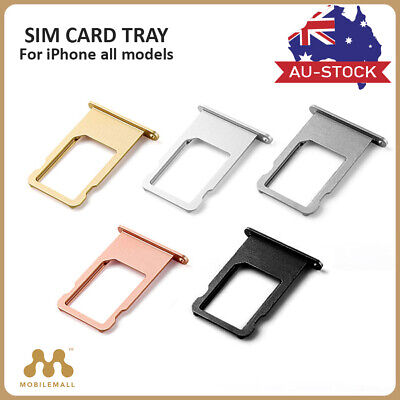 iPhone 5 5S 6 6S 7 Plus Sim Card Tray Holder Slot Replacement Silver Gray Gold