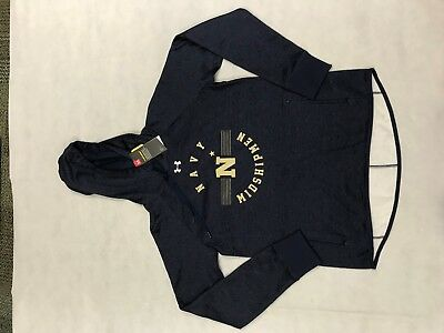 Under Armour US Navy Storm Water Resistant Fleece Hoodie 1298931 SAMPLES E1