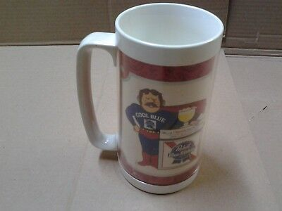 Vintage Pabst Blue Ribbon Thermo-Serv mug cool blue guy
