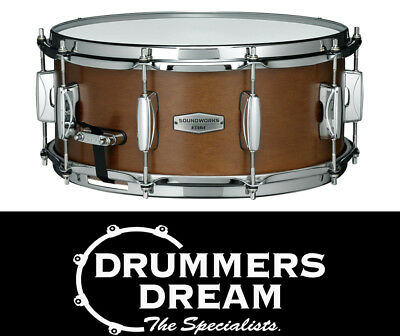 "Tama SOUNDWORKS 14 x 6"" Kapur Snare Drum - Matte Brown"