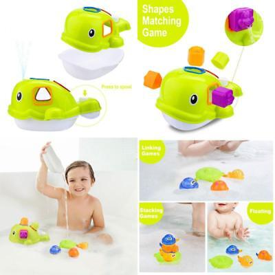 Baby Bath Toys Educational Whale Bathtub Toys Set for Children Toddlers Kids Boy