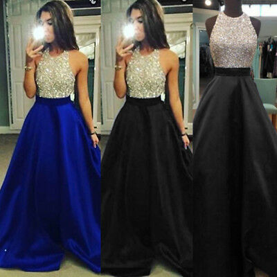 Formal Long Bridesmaid Dress Wedding Evening Cocktail Party Ball Gown Prom Dress