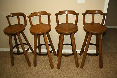 Ranch Oak Bar Stools