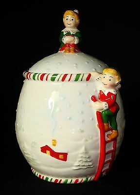 Gorham Kathy Ireland Once Upon A Christmas Treat Cookie Jar Collectible