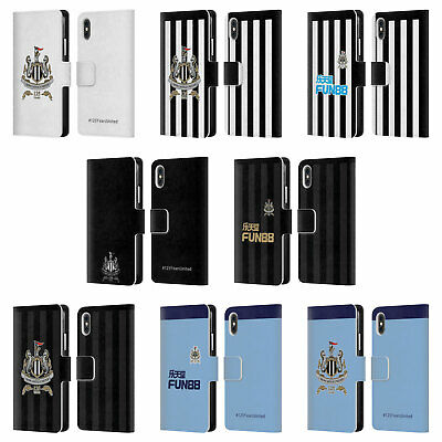 NEWCASTLE UNITED FC NUFC 125 YEAR ANNIVERSARY LEATHER BOOK CASE FOR APPLE iPHONE