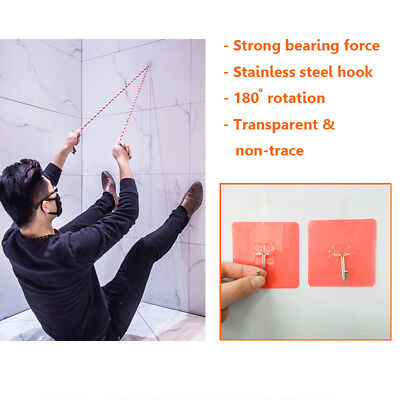 10Pcs Self Adhesive Sticky Wall Hooks Hanger Kitchen Bathroom Seamless Wall hook