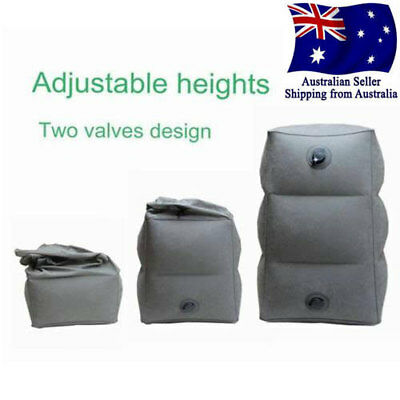 3 Step Height Adjustable Inflatable Travel Leg Foot Rest Pillow Plane Footrest.