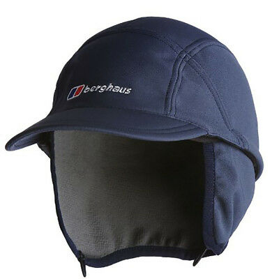 Mens Berghaus Cap Blue Windstopper Softshell Mountain Hiking Winter Hat