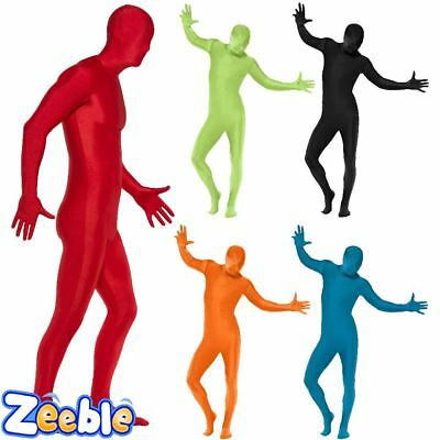 Adult Second Skin Zentai Bodysuit by Smiffys Mens Fancy Dress Outfit