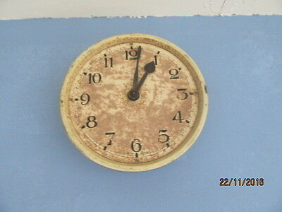 "Upcycled Shabby Chic Quartz Clock In Working Order 6.5"" x 6.5"""