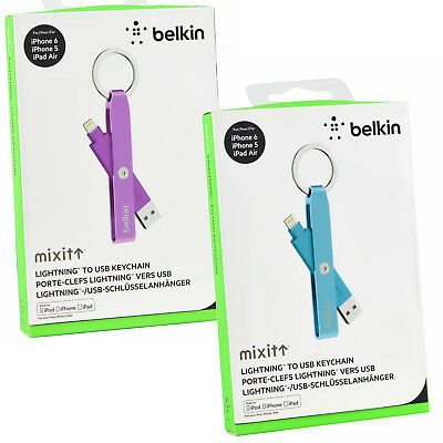Belkin Flexible iPhone X/8/7/6S/5S/SE Lightning USB Charge Sync Cable keychain