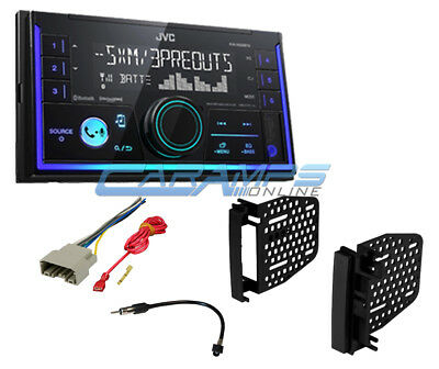 New Jvc Stereo Double 2 Din Bluetooth W Sirius Xm Radio & Aux/Usb W Install Kit