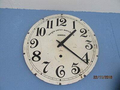 "Upcycled Shabby Chic Quartz Clock In Working Order 12"" x 12"""