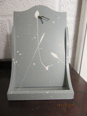 "Upcycled Shabby Chic Quartz Clock In Working Order 7.5""X 12"""