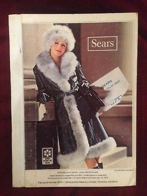 Sears Simpsons 1974 Fall and Winter Catalog Hardcover Vintage Rare