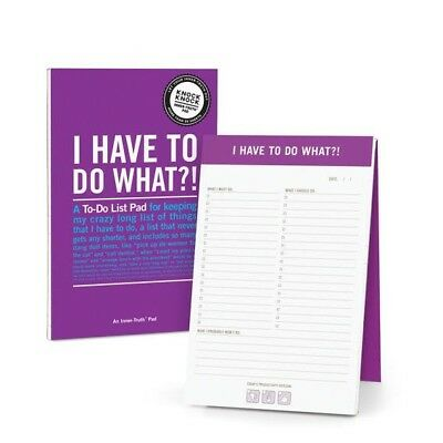 I Have To Do What?! Notepad in Purple planner memo pad notebook journal to-do