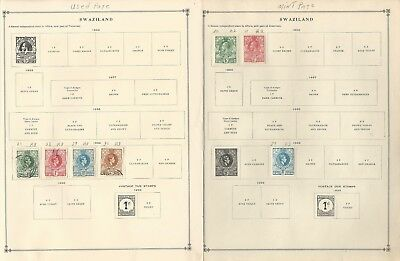 Swaziland Collection 1889-1994 on Scott 30 International & Minkus Pages