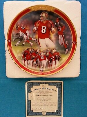 """Steve  Young             """"the  Game's  Greatest""""    Bradford  Exchange  Plate"""