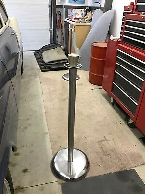 13 Stanchion Posts Stainless Steel and 12 Velvet Ropes Crowd Control Barrier
