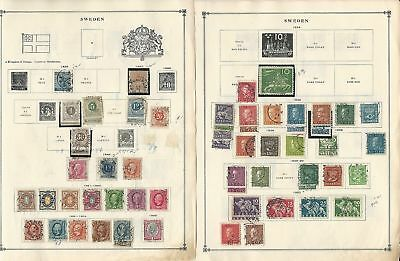 Sweden Collection 1858 to 1940 on 7 Scott International Pages