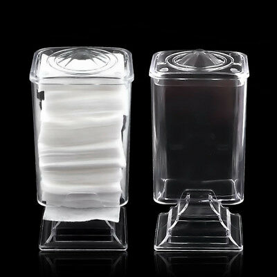 Cotton Pad Towel Cosmetic Storage Box Nail Art Remover Paper Acrylic Transparent